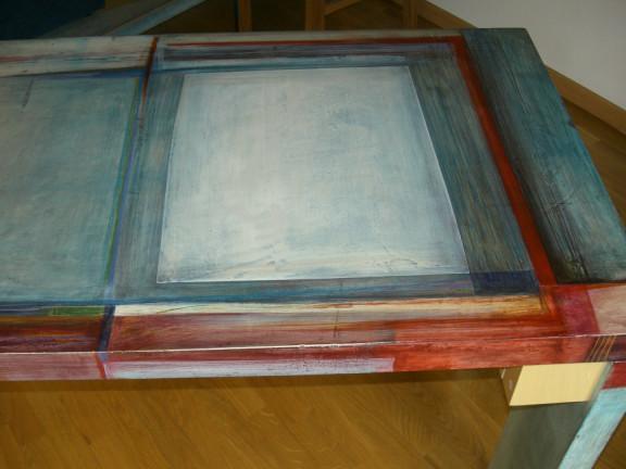 Tavolo azzurro